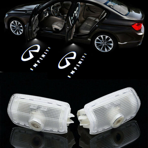 2x LED Car Door Light Logo Projector Ghost Shadow For Infiniti FX35 FX37 Q50 G35