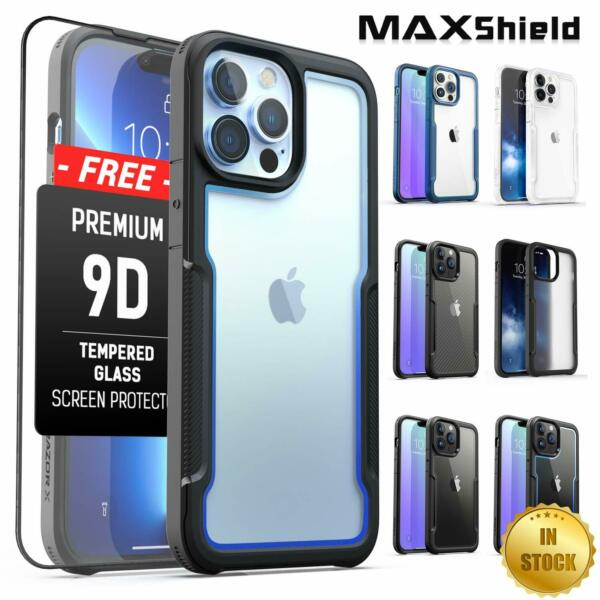 For MAXSHIELD iPhone 11 Pro Max Case Heavy Duty Shockproof Clear Slim Cover $13.99