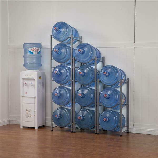 5 Gallon Heavy Duty Water Jug Holder Water Bottle Storage Rack 345 Tiers US
