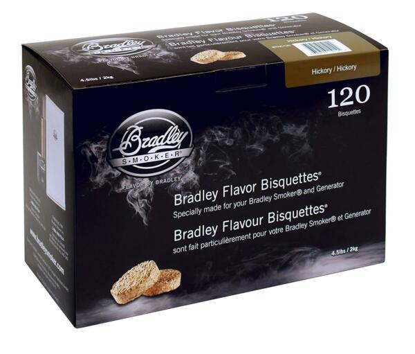 Bradley Hickory Bisquettes 120 pack Smoking Smoker Wood Chips F