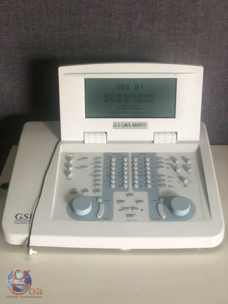 GSI Viasys Grason Stadler 61 Clinical 2 Channel Audiometer Hearing Aid Tester