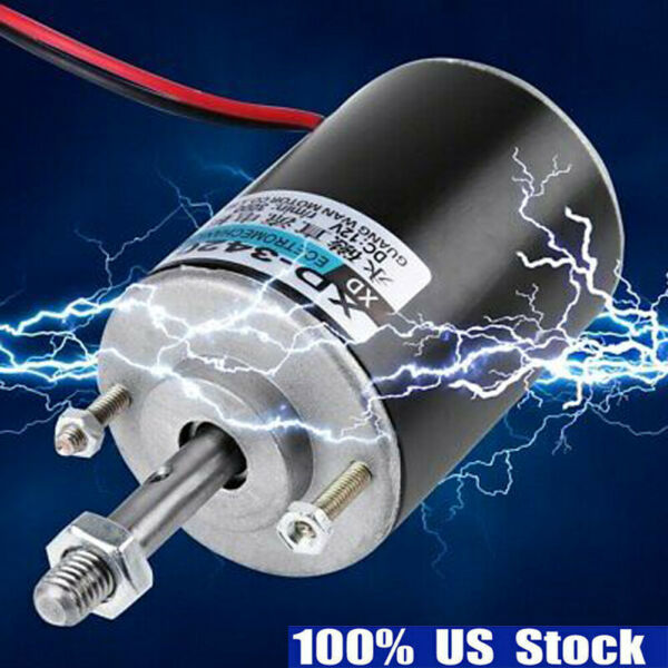 12V 3000RPM Permanent Magnet DC Electric Motor High Speed CWCCW DIY Generator