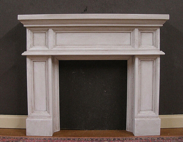FIREPLACE ~ Panel  ~ Distressed  ~ Dollhouse Miniature ~ 1:12 scale ~ Room Box