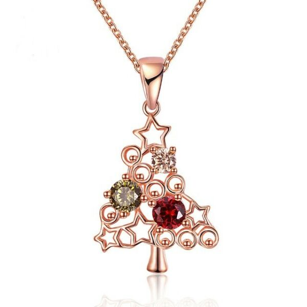 Uloveido Rose Christmas Tree Necklaces amp; Pendants Women Fashion Necklace Gifts