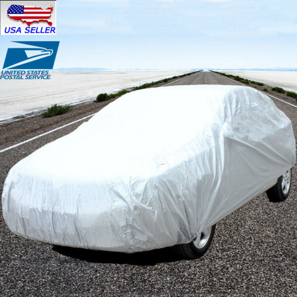 M Size Full Car Cover Waterproof Heat Sun UV Snow Dust Rain Resistant Protection
