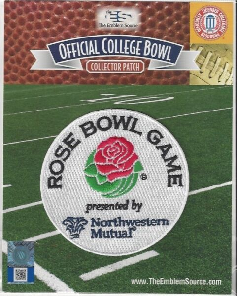 2019 2020 Rose Bowl Bowl Patch Wisconsin Oregon Official NCAA Jersey Logo