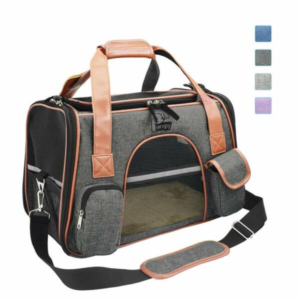 Purrpy Premium Cat Dog Carrier Airline Approved Soft Sided Pet Travel Bag Car S $17.99