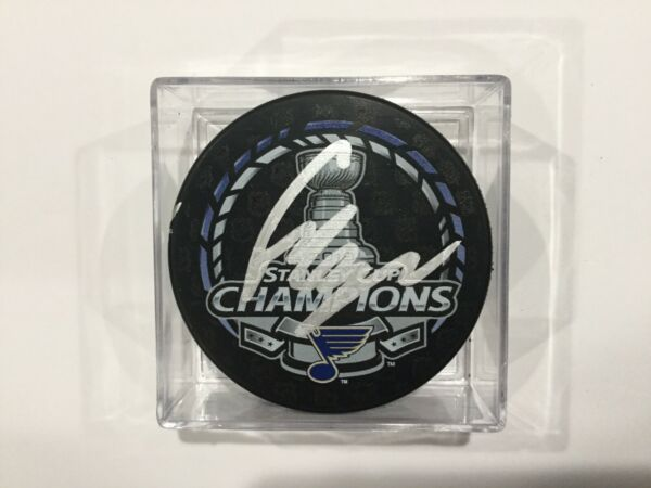 Craig Berube Signed Autographed 2019 Stanley Cup Blues Puck Autographed c