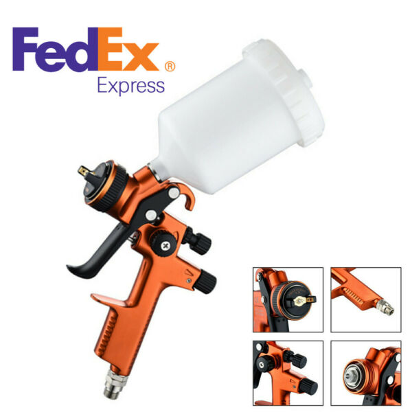 Professional HVLP Spray Gun 1.3mm With 600ml Cup Car Auto Paint Sprayers G1/4 US