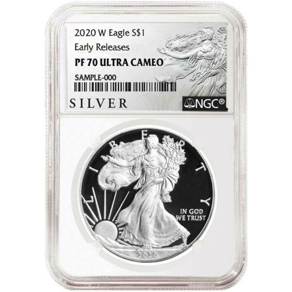 2020-W Proof $1 American Silver Eagle NGC PF70UC ALS ER Label