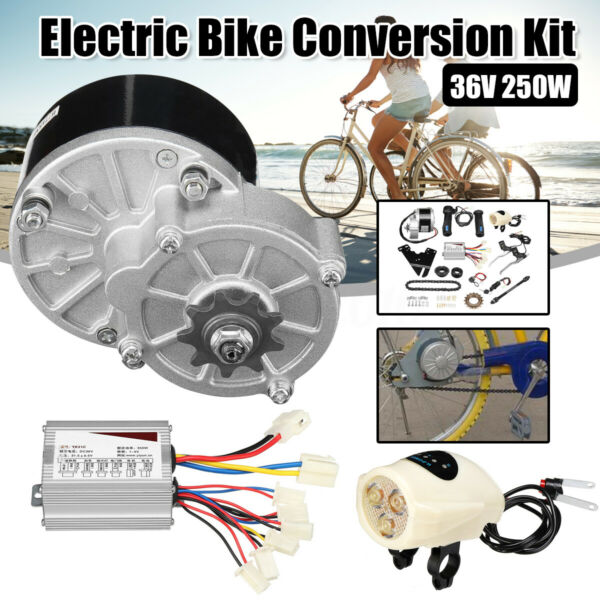 36V 250W For 22-28'' Mid Drive Electric Bicycle Bike Motor Conversion Refit