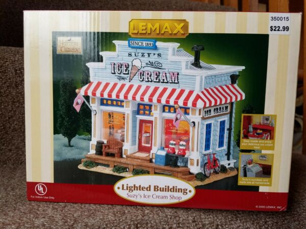Lemax Suzy's Ice Cream Shop 55234 Harvest Crossing Lighted NIB