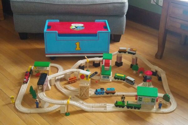 ©2001 COMPLETE LIFT AND LOAD SET ~ Thomas & Friends Wooden Railway 🚂 ULTRA RARE