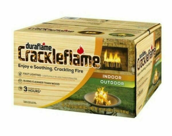 Duraflame Crackleflame 4-lb Fire Logs 6-Pack Soothing Crackling Wood Fire Sound