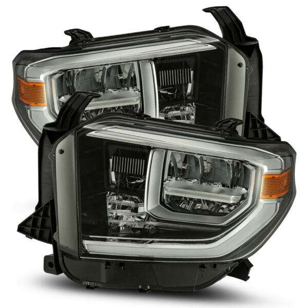 For 2014-2018 Toyota Tundra Polished Black LED TRD Truck Headlights Left