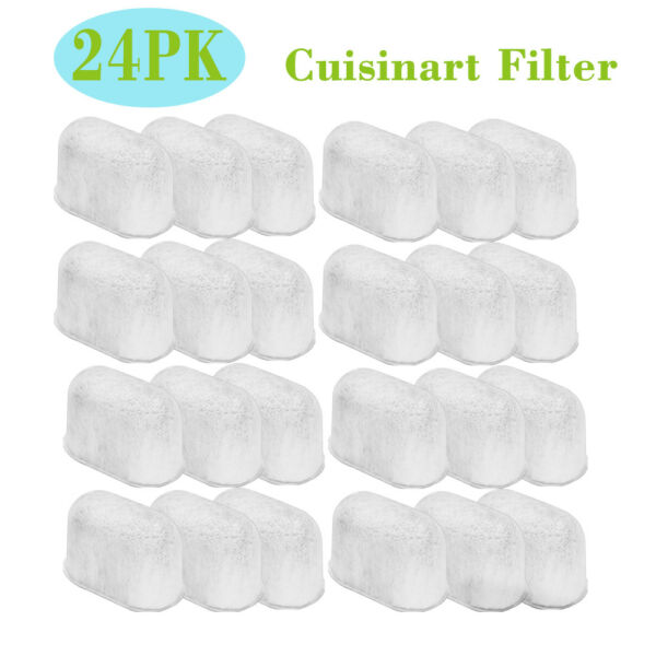 24PCS Cuisinart DCC-3200 Charcoal Water Filter Replacement Coffee Maker Parts