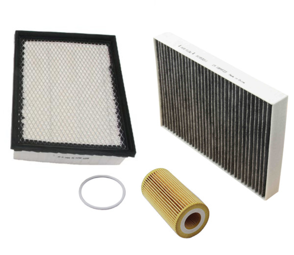 Air Filter Oil Filter AC Cabin Filter Carbon Volvo S60 V60 XC60 XC70 L5 11 16 $39.84