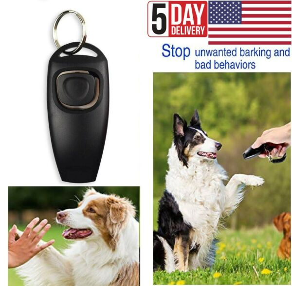Dog and Puppy Training Clicker and Recall Whistle 2 in 1 Train Behavior Agility $8.99