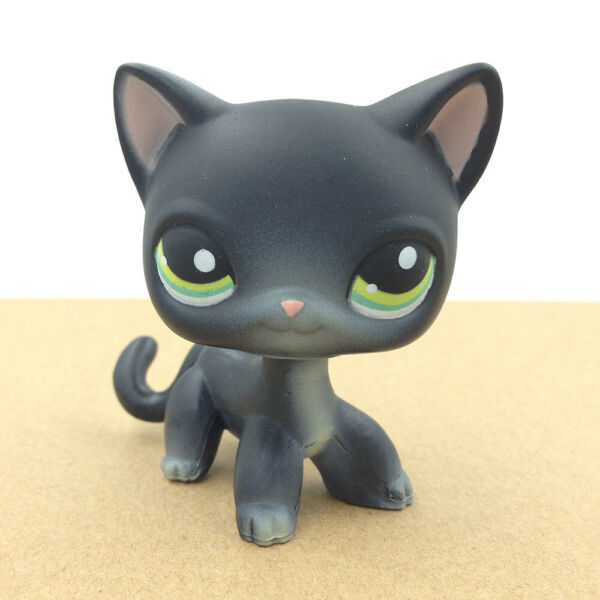 Pet Shop LPS #994 Siamese Black Short Hair Cat Kitty Collection Gift For Child