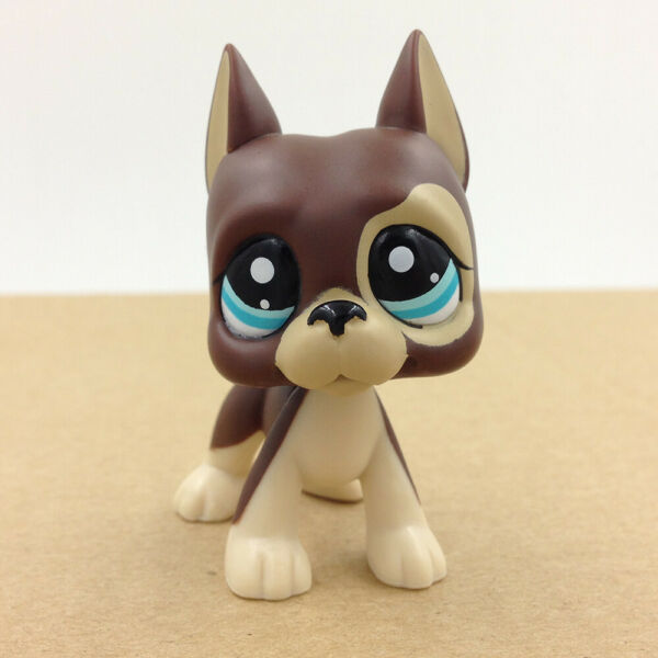 Littlest LPS #1519 Pet Shop Brown Great Dane Dog Toy Gift For Children's Day