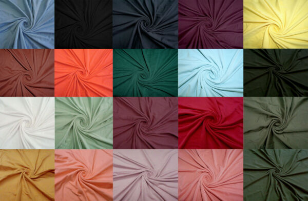 4 Way Stretch Double Sided Brushed Fabric Jersey Knit Fabric