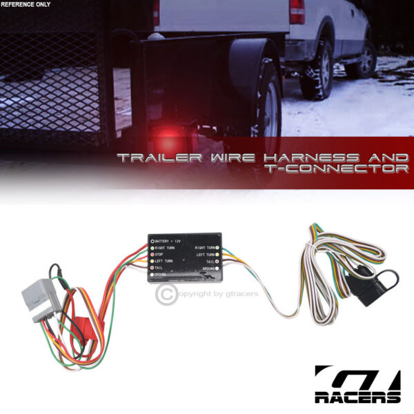 For 2004 2007 Toyota Highlander Trailer Hitch 4 Way Wire Harness T Connector Kit $32.00