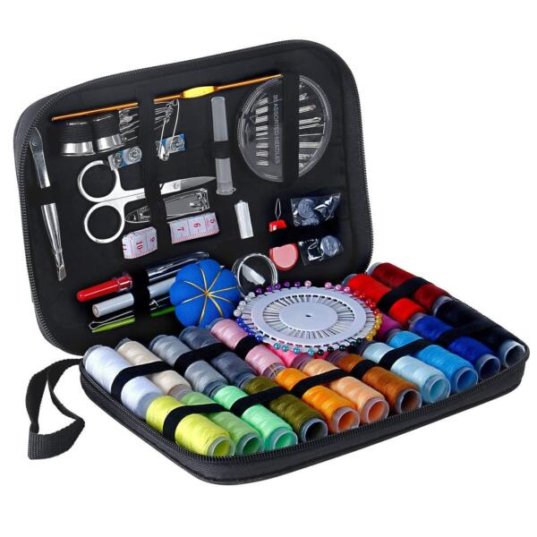 Mini Beginner 126 Sewing Kit Set Supplies Adults Kids Home Travel Campers Craft