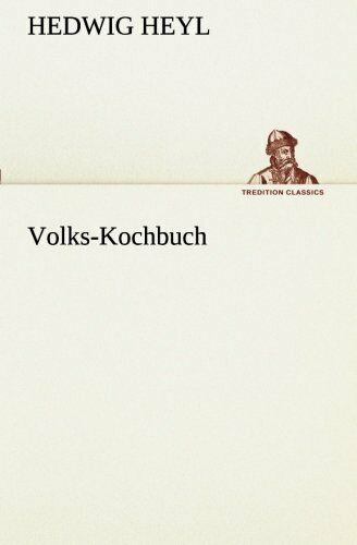 Volks Kochbuch by Heyl Hedwig New 9783849546519 Fast Free Shipping