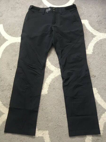 PHENIX •Women 12• DNB Black Lined Insulated Ski Pant Snow SLIM Fit NORWAY Exc