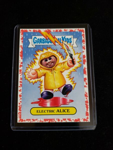 Garbage Pail Kids 2019 Revenge Oh Horror-ible Blood Red 1a ELECTRIC ALICE GPK