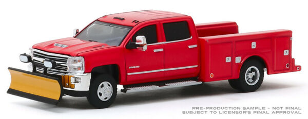 Greenlight Chevy Silverado 3500 Dually Service Bed with Snow Plow 46030 A 164