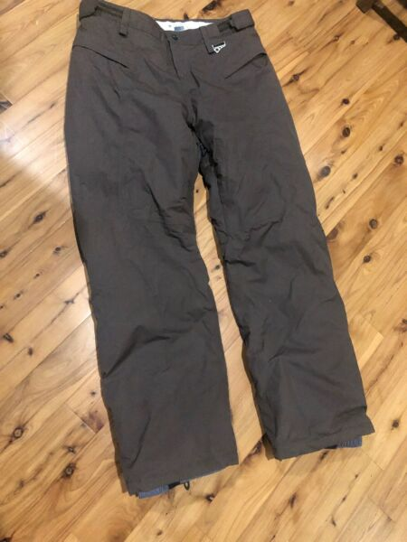 OAKLEY Road Fuel 3 Brown Insulated Snowboard Snow Ski Pants Large