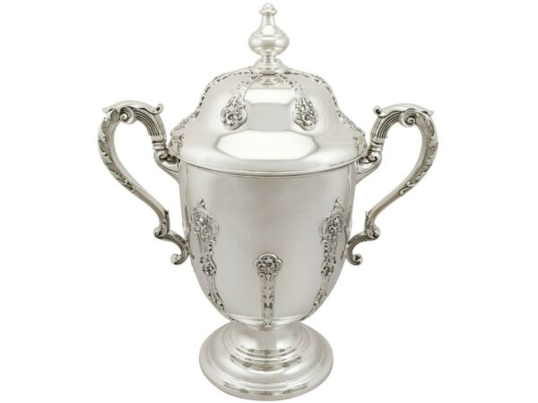 Antique George V Sterling Silver Presentation Cup and Cover