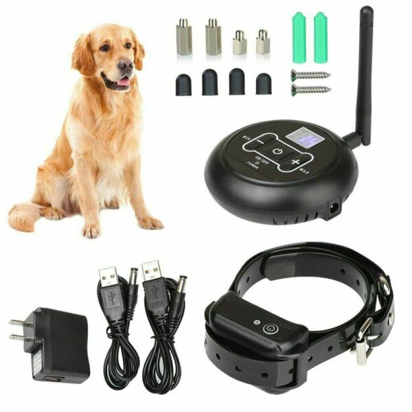 For 2 Dog Wireless Electric Dog Fence Containment System Shock Collar Waterproof $40.49