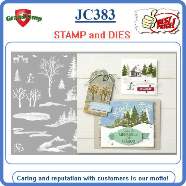 JC383 Snow Front Photopolymer Stamp Set and cutting Dies