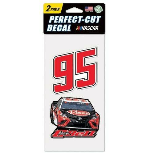 Christopher Bell 2020 Wincraft #95 Procore Rheem 4x8 2pc Decal Set FREE SHIP $12.99