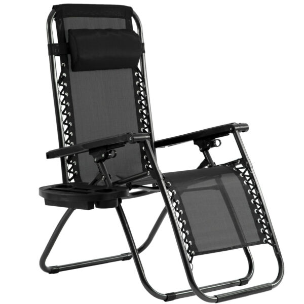 New Patio Chairs Zero Gravity Chair Lounge Chaise Recliners Folding with Pillow $59.99