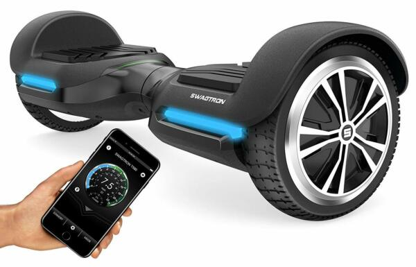 Open Box Swagtron T580 Hoverboard Scooter 6In Wheel w Bluetooth Speaker