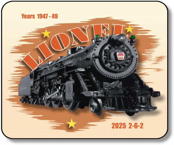 Lionel 2025 2 6 2 K 4 Pacific Steamer Mouse Pad $14.45