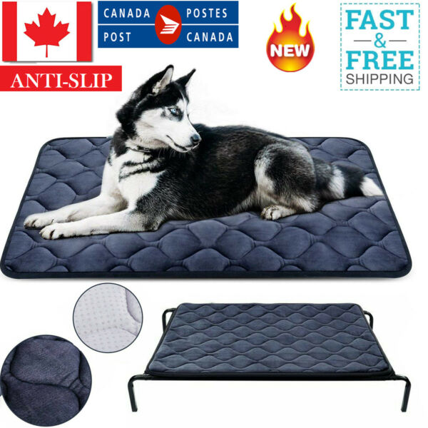 Elevated Dog Warm Bed Washable Mat For Extra Large Crate Chewers Breed 65 X 90CM