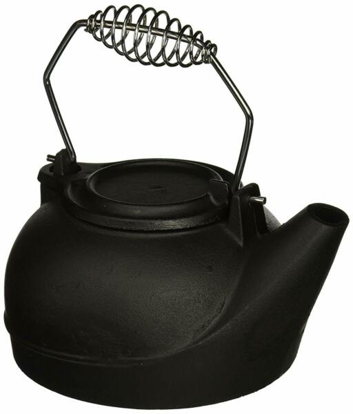 Cast Iron Kettle Old Fashioned Fireplace Humidifier Heavy-Duty Metal Coil Handle