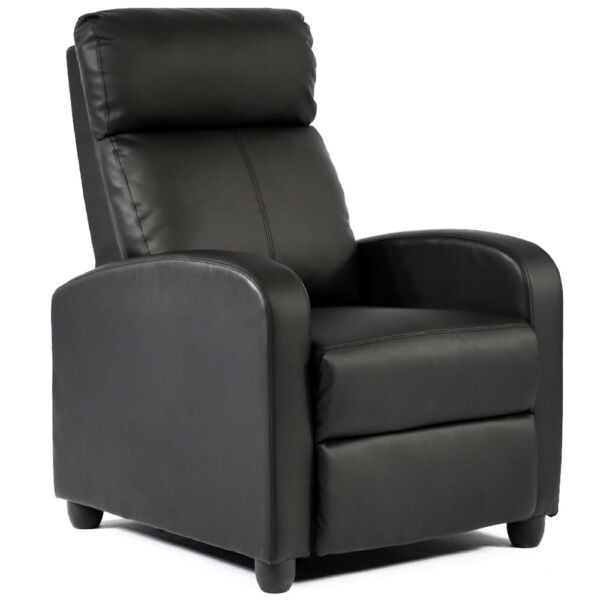 Recliner Chair Modern Leather Chaise Couch Single Accent Recliner Chair Sofa $125.99