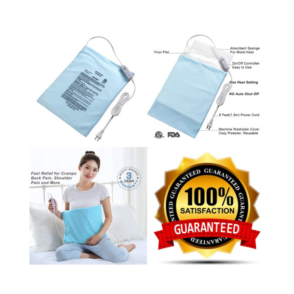 Electric Heating Pad Fast Heat with OnOff Switch for Pain 12''x15