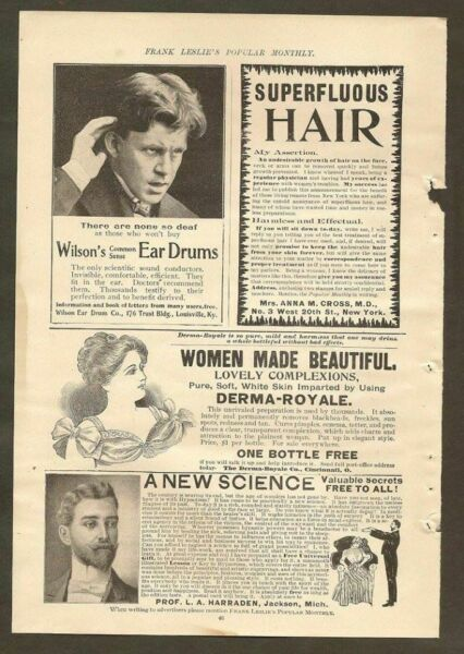 VINTAGE ADS FOR WILSON#x27;S EAR DRUMS DERMA ROYALE RALSTON HEALTH SHOES amp; MORE