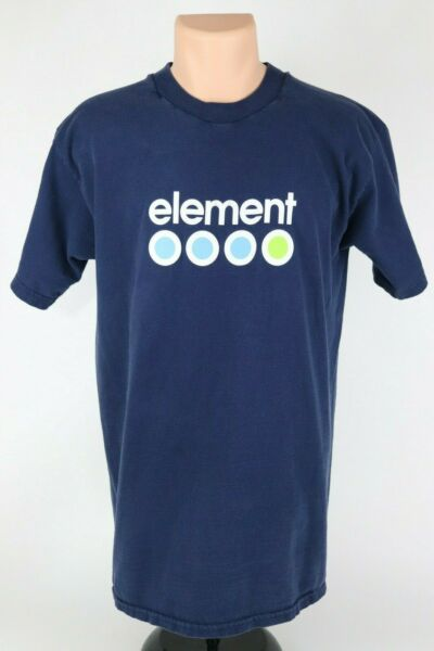 Vintage Element Skateboards Mens Large Faded Navy Blue Graphic T Shirt USA Made