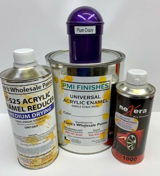 Plum Crazy Gallon Kit Single Stage ACRYLIC ENAMEL Car Auto Paint Kit