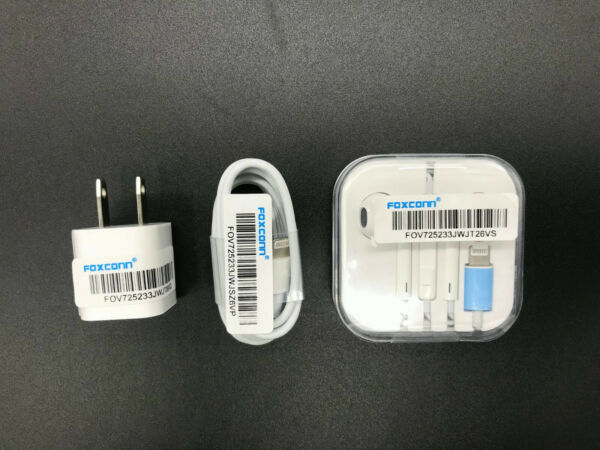 Foxconn OEM Lightning USB Cable Charger headset For Apple iPhone 11 X 8 7 6 5S