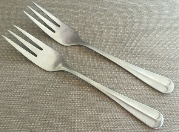 2 Salad Forks Stainless Spirit of 76 Washington Forge Tipped Hanoverian 110217