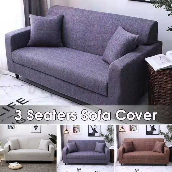 3 Seater Stretch Sofa Chair Couch Cover Elastic Slipcover Protector Universal US $32.99