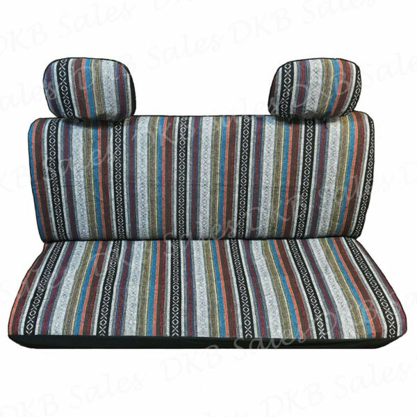 4 Pc Brand New Universal Baja Inca Saddle Mexican Blanket Bench Truck Seat Cover $31.99